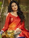 photo of Multi Color Crepe Silk Fabric Regular Wear Printed Saree