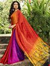 image of Multi Color Crepe Silk Fabric Regular Wear Printed Saree
