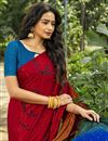 photo of Multi Color Crepe Silk Fabric Fancy Printed Daily Wear Saree