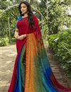 image of Multi Color Crepe Silk Fabric Fancy Printed Daily Wear Saree
