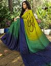 photo of Crepe Silk Fabric Daily Wear Printed Saree In Multi Color
