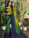 image of Crepe Silk Fabric Daily Wear Printed Saree In Multi Color