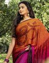 photo of Multi Color Casual Printed Saree In Crepe Silk Fabric