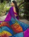 photo of Multi Color Puja Wear Printed Saree In Crepe Silk Fabric