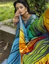 photo of Printed Crepe Silk Fabric Fancy Saree In Multi Color