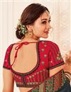 photo of Art Silk Fabric Festive Wear Black Color Saree With Embroidered Blouse