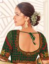photo of Green Color Puja Wear Art Silk Fabric Designer Saree With Embroidered Blouse