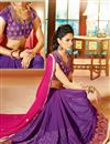 photo of Formidable Pink And Purple Color Designer Saree