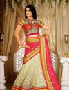 image of Ready To Ship Shweta Tiwari  Cream And Pink Color Chaniya Choli