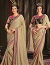 image of Designer Party Wear Chiffon And Jacquard Saree_911