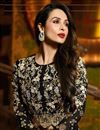 photo of Malaika Arora Georgette Salwar Kameez in Black Color with Embroidery
