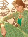 photo of Party Wear Embellished Net Fabric Fancy Green Long Floor Length Anarkali Suit