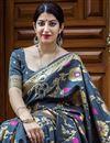 photo of Weaving Work Black Art Silk Designer Saree With Mesmerizing Blouse