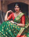 photo of Weaving Work Art Silk Traditional Function Wear Saree