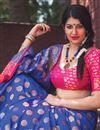 photo of Weaving Work Fancy Art SilkDesigner Saree In Blue