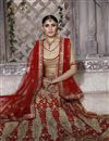 photo of Wedding Wear Beige Color Net Embroidered Lehenga