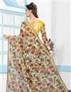 photo of Multi Color Digital Floral Print Party Wear Net Saree