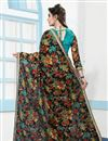 photo of Digital Floral Print Party Wear Net Saree In Multi Color