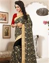 photo of Black Color Designer Embroidered Saree With Unstitched Blouse