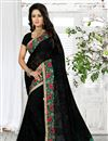 image of Astounding Designer Georgette Saree In Black Color
