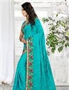 photo of Superb Cyan Color Party Wear Saree In Georgette Fabric