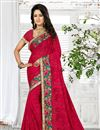 image of Astounding Designer Georgette Saree In Pink Color
