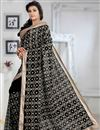 photo of Appealing Black Color Party Wear Printed Saree With Georgette Blouse