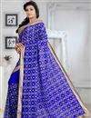 photo of Tempting Blue Color Party Wear Printed Saree