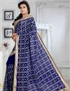 photo of Pleasing Blue Color Printed Party Wear Georgette Saree