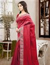 photo of Graceful Red Color Party Wear Designer Saree In Silk Fabric