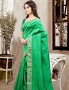 photo of Elegant Green Color Party Wear Saree In Silk Fabric