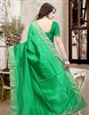picture of Elegant Green Color Party Wear Saree In Silk Fabric