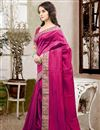 photo of Lovely Silk Fabric Designer Saree In Pink Color With Unstitched Silk Blouse