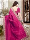 picture of Lovely Silk Fabric Designer Saree In Pink Color With Unstitched Silk Blouse