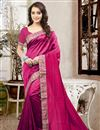 image of Lovely Silk Fabric Designer Saree In Pink Color With Unstitched Silk Blouse