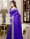 photo of Mesmerizing Blue Color Designer Silk Saree With Unstitched Silk Blouse