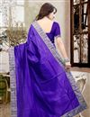 picture of Mesmerizing Blue Color Designer Silk Saree With Unstitched Silk Blouse