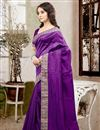 photo of Graceful Purple Color Party Wear Designer Saree In Silk Fabric