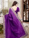 picture of Graceful Purple Color Party Wear Designer Saree In Silk Fabric