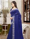photo of Elegant Blue Color Party Wear Saree In Silk Fabric