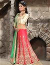 photo of Pink Color Bridal Wear Embroidered Lehenga Choli in Net Fabric