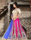 photo of Magenta Color Wedding Bridal Embroidered Lehenga Choli in Net Fabric