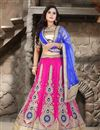 image of Wedding Bridal Embroidered Net Lehenga Choli in Magenta Color