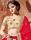 photo of Party Wear Red And Cream Color Chiffon Designer Fancy Embroidered Saree
