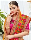 photo of Party Wear Yellow Color Chiffon Fancy Embellished Festive Wear Saree