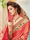 photo of Designer Festive Wear Silk Pink Color Embroidered Fancy Lace Border Saree