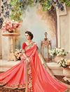 picture of Designer Festive Wear Silk Pink Color Embroidered Fancy Lace Border Saree