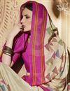 photo of Excellent Cream Color Silk Designer Saree