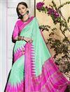 image of Sea Green Color Mesmerizing Printed Party Saree