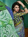 photo of Charming Printed Party Wear Georgette Saree